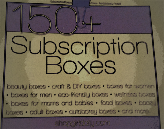 Subscription boxes listings site